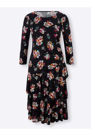 Ashley brooke Jersey-Kleid in -magenta-bedruckt von