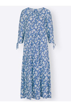 Heine Druck-Kleid in kornblume-ecru-bedruckt von