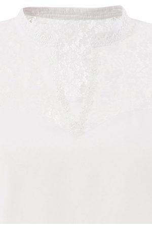 MARJO Trachtenbluse in weiß-transparent von
