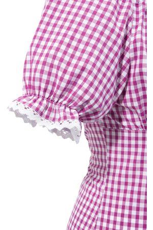 OS-TRACHTEN Trachtenbluse in pink-weiß von
