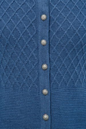 OS-TRACHTEN Trachtenstrickjacke in -jeansblau von