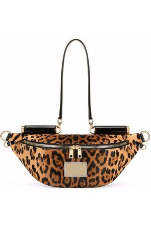 Dolce & Gabbana Damen Bauchtaschen - Gürteltasche mit Leoparden-Print