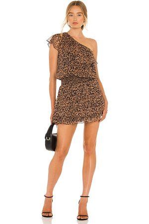 krisa X REVOLVE One Shoulder Ruffle Dress in . Size M, S, XS.