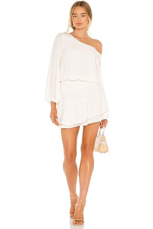 krisa One Shoulder Ruffle Skirt Dress in . Size M, S, XS.