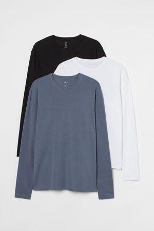H & M 3er-Pack Shirts Slim Fit