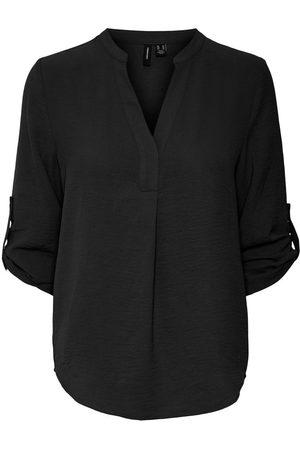 VERO MODA V-ausschnitt Bluse Mit 3/4 Ärmeln Damen
