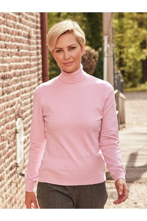 Avena Damen Rollkragen-Pullover Supersoft Rose