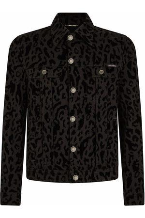 Dolce & Gabbana Herren Jeansjacken - Jeansjacke mit Animal-Print