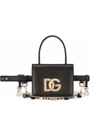 Dolce & Gabbana Damen Bauchtaschen - Gürteltasche aus Leder