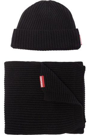 Dsquared2 Herren Schals - Set aus Mütze und Schal