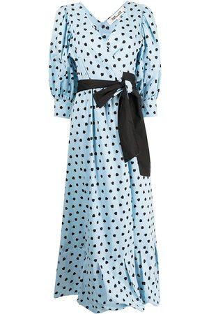 Desmond & Dempsey Damen Freizeitkleider - Wickelkleid mit Polka Dots