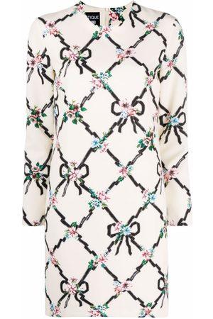 Moschino Damen Freizeitkleider - Kleid mit Blumen-Print