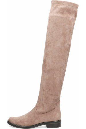 Caprice Damen Overknees - Overknee in mittelbraun, Stiefel für Damen