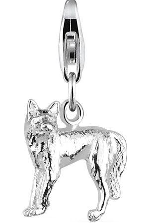 Elli Charm Wolf Tier Natur 925 Sterling in , Schmuck für Damen