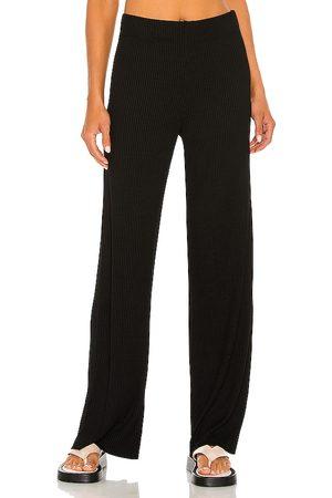 Enza Costa Rib Straight Leg Pant in . Size XS, S, M, XL.