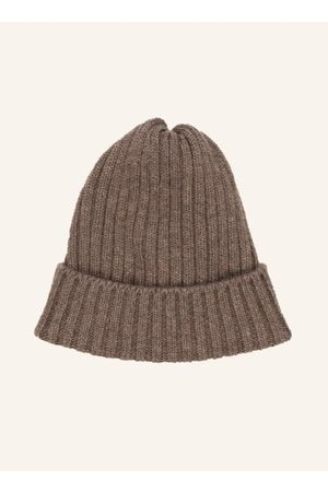 FEDELI Beanie. Rippstrick. Reines Cashmere. Made in Italy