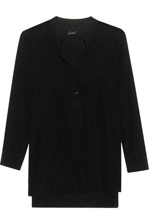 JADICTED Damen Blusen - Clean Silk Black