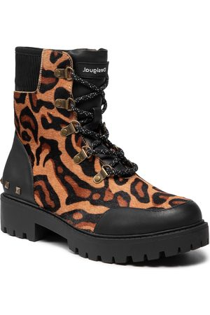 Desigual Shoes Biker Leopard 21WSTL02 6007