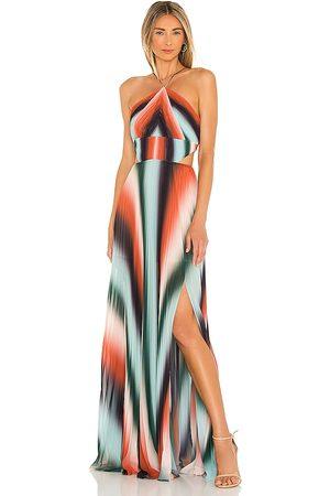 AMUR Janet Gown in ,Orange. Size 00, 2, 4, 6, 8, 10, 12.