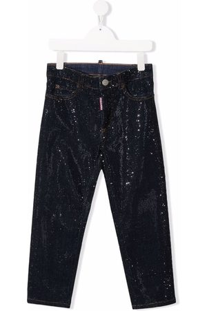 Dsquared2 Kids Gerade Mid-Rise-Jeans