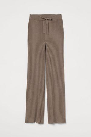 H&M Gerippte Hose aus Kaschmirmix