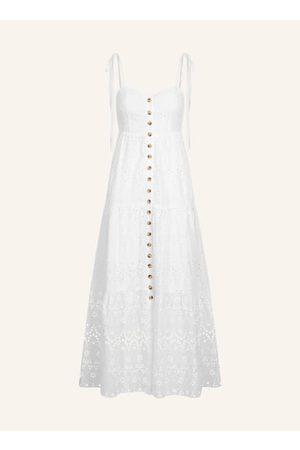LIMBERRY Unser Style-Highlight für den Sommer? Sommer-Dresses aus weißer Lochspitze! Mit dem Kleider-Trend ist man immer gut angezogen: vom Beach Day bis zum entspannten City Bummel. A-Linie. V-Ausschitt. Schmale Träger zum Binden. Schließt mit Knöpfen in