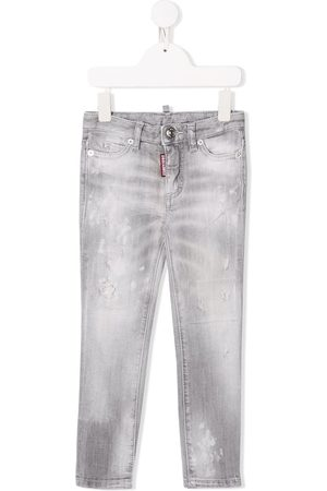 Dsquared2 Mädchen Straight - Gerade Distressed-Jeans