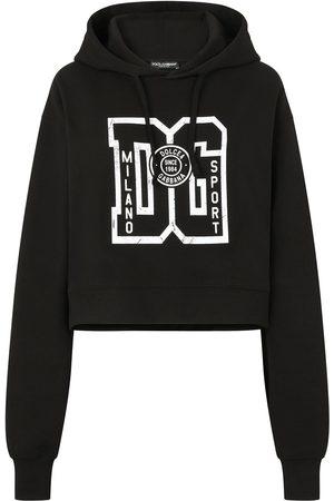 Dolce & Gabbana Damen Strickpullover - Hoodie mit Logo-Print