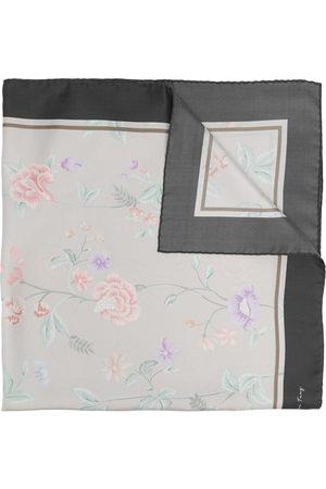 SHANGHAI TANG Damen Schals - Seidenschal mit Blumen-Print