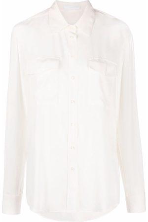 HUGO BOSS Damen Blusen - Seidenhemd mit Knöpfen