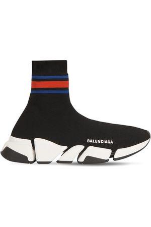 "BALENCIAGA 30mm Hohe Sneakers Aus Strick ""speed 2,0"""