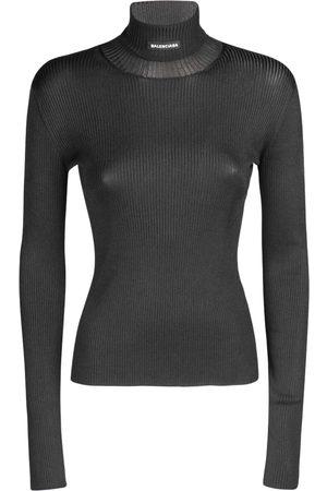 BALENCIAGA Sweater Aus Technostoff Mit Rollkragen
