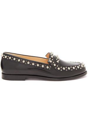 Christian Louboutin Mattia Spike-embellished Leather Loafers