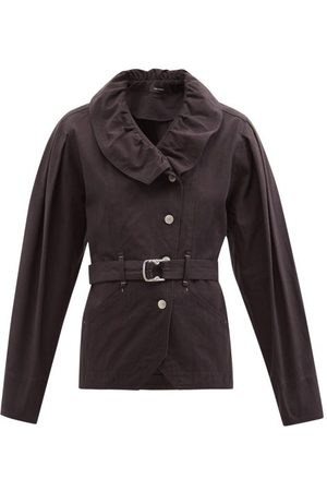 Isabel Marant Dipazo Flounced Belted Denim Jacket