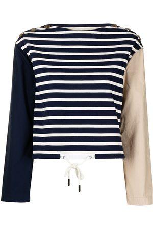 Ports V Sweatshirt in Colour-Block-Optik