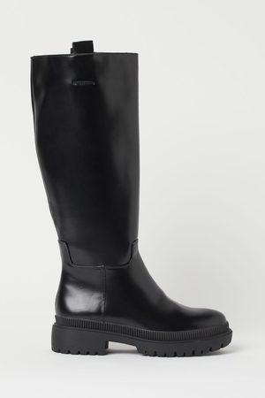 H & M Damen Overknees - Kniehohe Stiefel