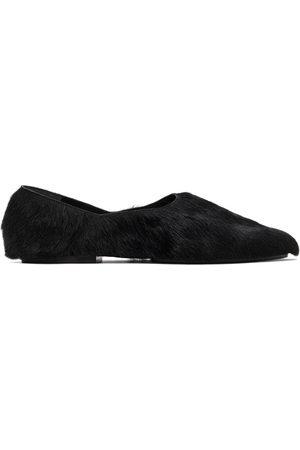Jil Sander Herren Halbschuhe - Black Calf Hair Slippers