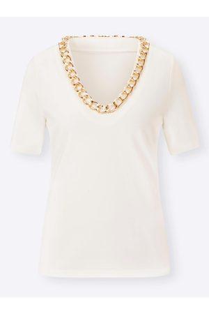 Ashley Brooke Damen T-Shirts, Polos & Longsleeves - Shirt in ecru von