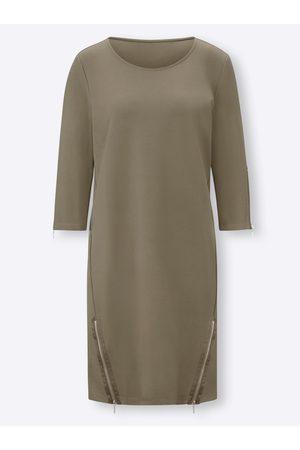 Rick Cardona Damen Freizeitkleider - Jersey-Kleid in khaki von