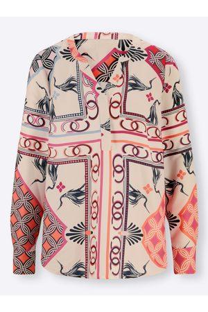Rick Cardona Damen Blusen - Druckbluse in elfenbein-hummer-bedruckt von
