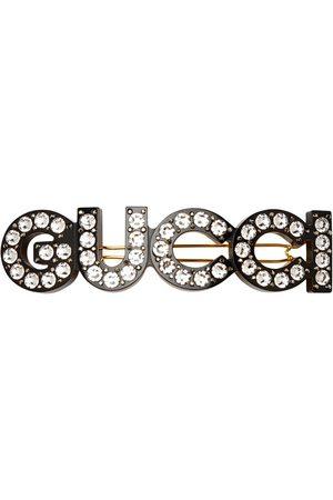 Gucci Haarspange mit Kristall-Logo