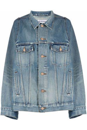 Balenciaga Jeansjacke mit weiten Ärmeln