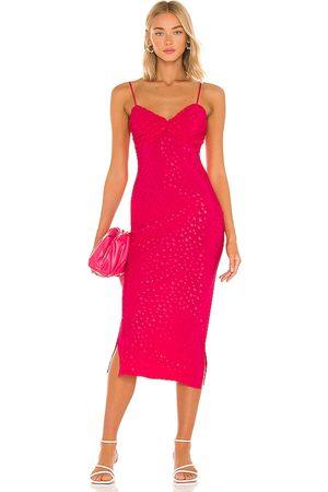 MAJORELLE Sharona Midi Dress in . Size XXS, XS, S, M, XL.