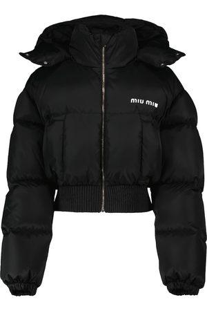 Miu Miu Cropped-Daunenjacke aus Shell