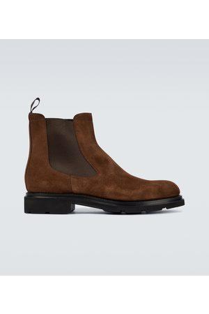 santoni Chelsea Boots aus Veloursleder