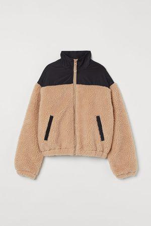 H&M Jacke aus Lammfellimitat