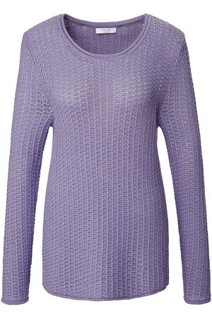 mayfair by Peter Hahn Rundhals-Pullover lila