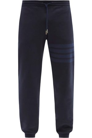 Thom Browne Four-bar Cotton-jersey Track Pants