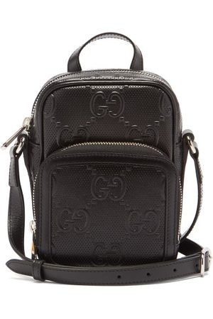 Gucci Gg-monogram Perforated-leather Cross-body Bag