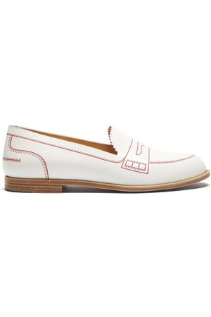 Christian Louboutin Mocalaureat Contrast-inlay Leather Loafers
